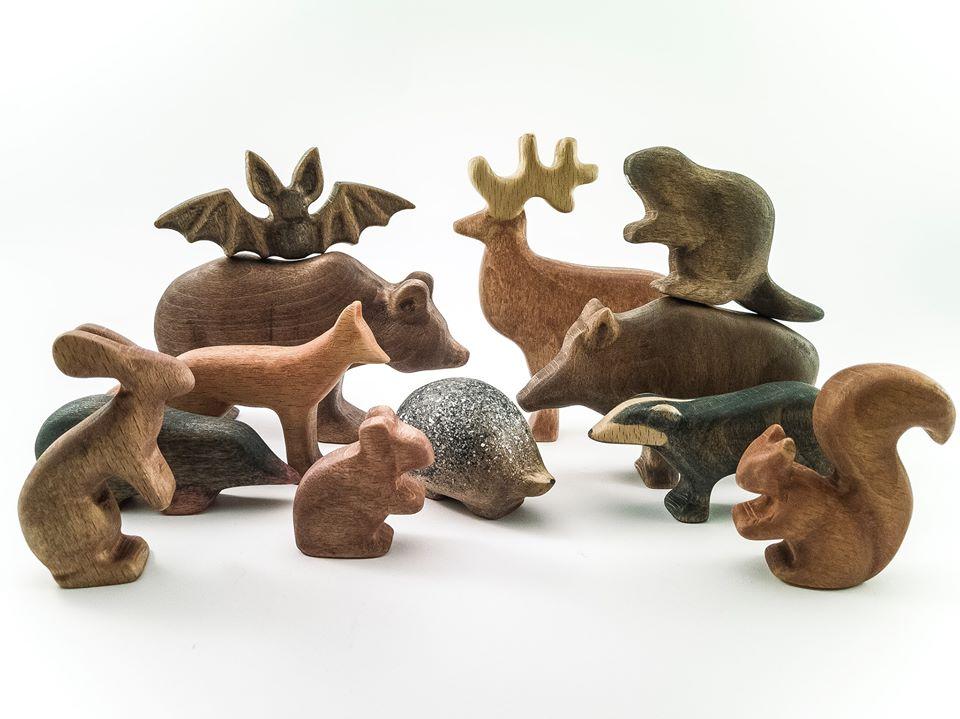woodland wooden animals